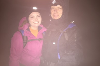 Nick and daughter Rebecca at the summit