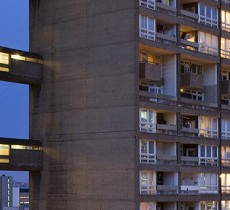 Image of balfron tower by night